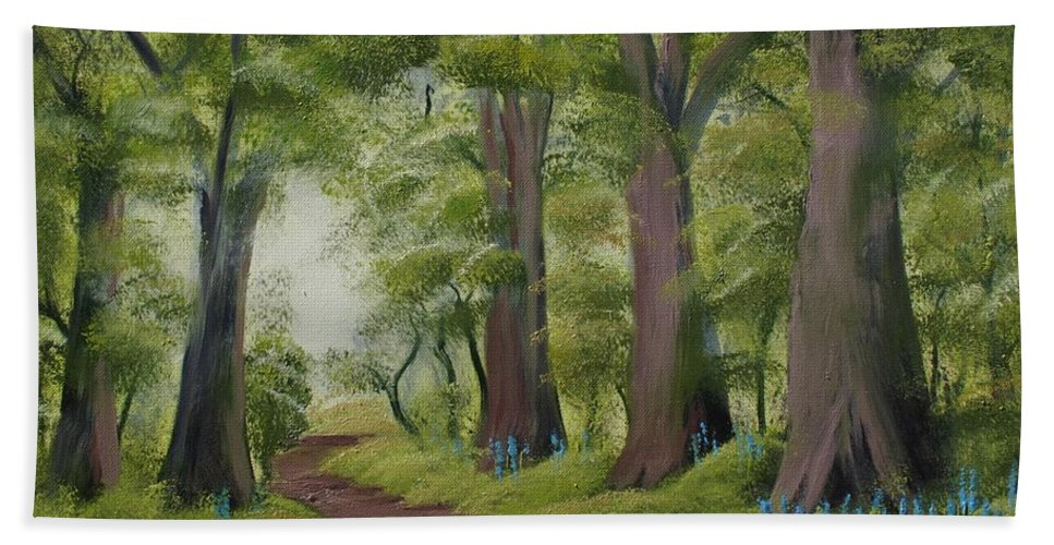 Painting Beach Towel featuring the painting Duff House Walk by Charles and Melisa Morrison