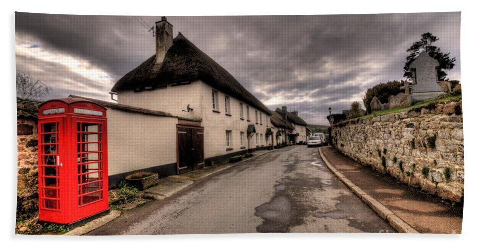 Dunsford Beach Towel featuring the photograph Dunsford Village by Rob Hawkins