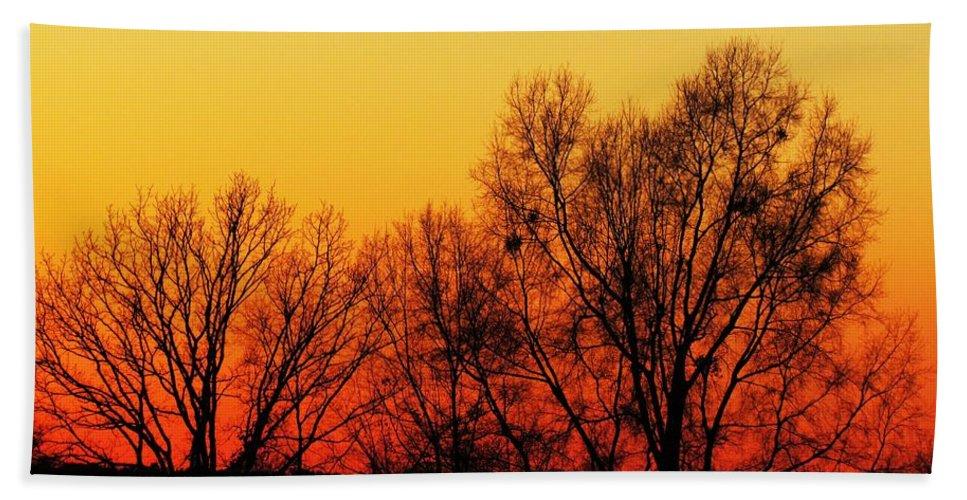 Dusk Beach Towel featuring the photograph Dusk 1 by Ginger Adams