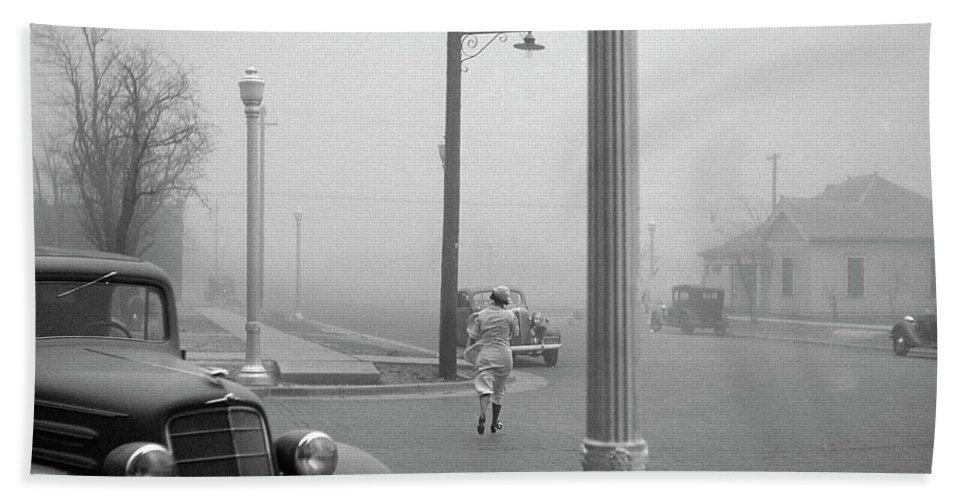 1936 Beach Towel featuring the photograph Dust Bowl, 1936 by Granger
