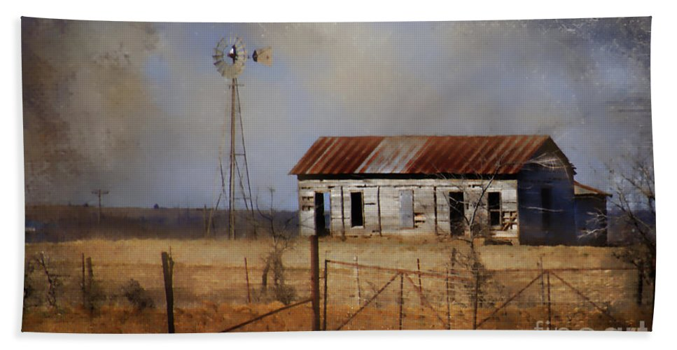 Farm Beach Towel featuring the photograph Dust In The Air by Betty LaRue