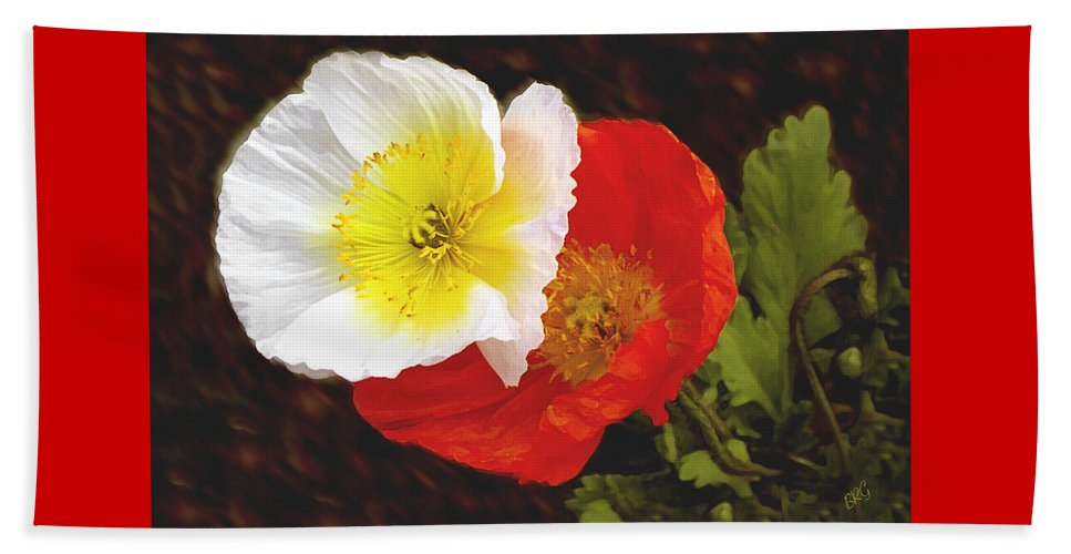 Iceland Poppies Beach Towel featuring the photograph Eager Poppies by Ben and Raisa Gertsberg