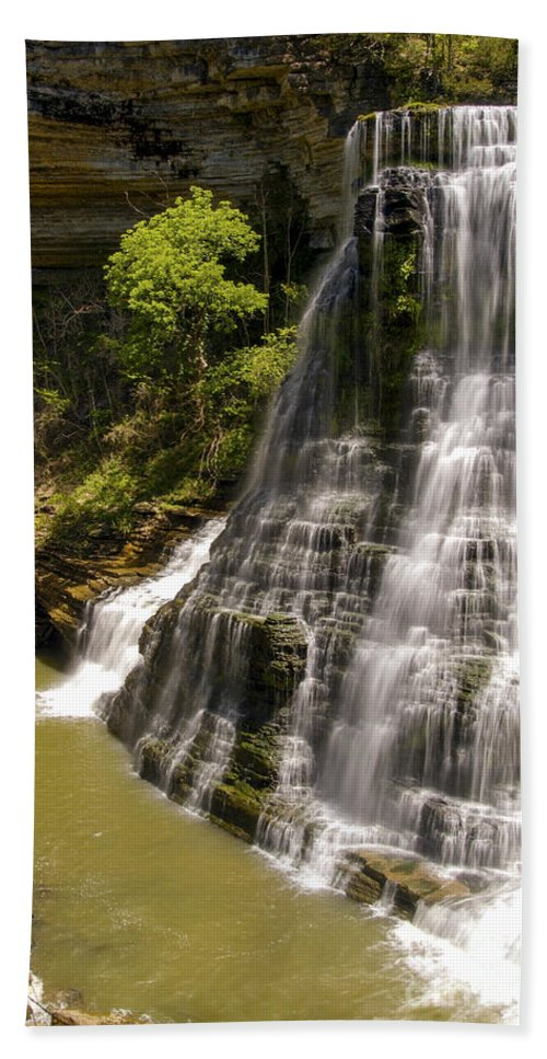 Burgess Falls State Park Beach Towel featuring the photograph Early Spring by Bob Phillips