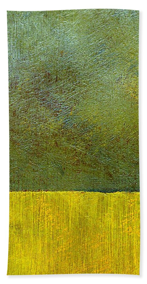 Abstract Landscape Beach Sheet featuring the painting Earth Study Two by Michelle Calkins