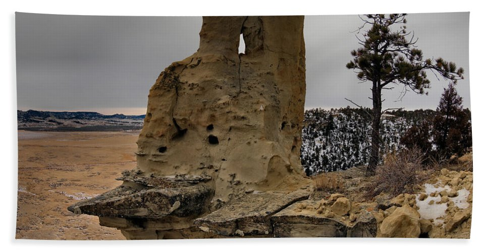 Balance Beach Towel featuring the photograph East Montana Formations by Leland D Howard