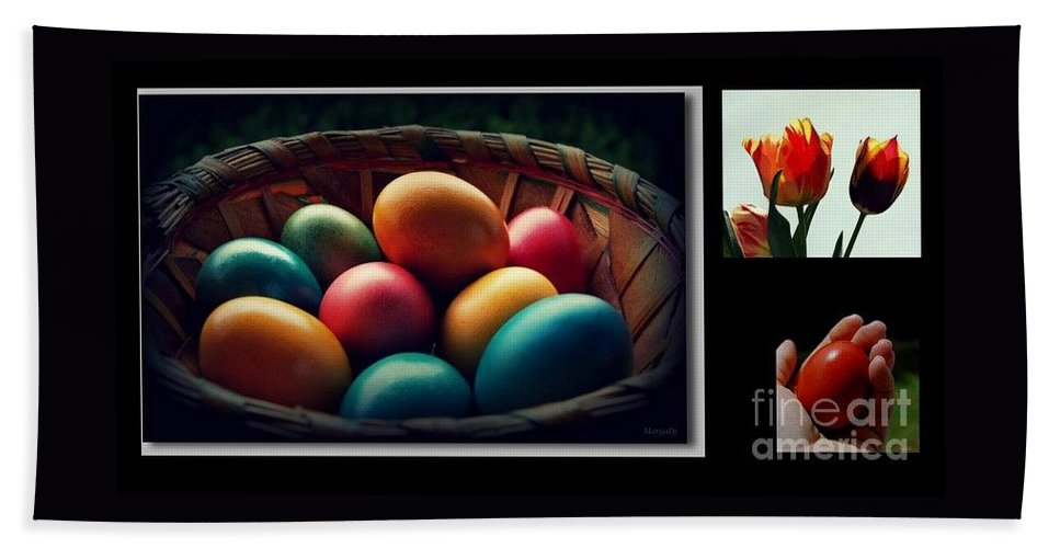 Food Beach Sheet featuring the photograph Happy Easter My Dear Friends by Marija Djedovic