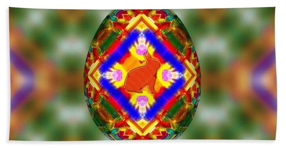 Easter Egg 3d Beach Towel featuring the digital art Easter Egg 3d by Carlos Vieira