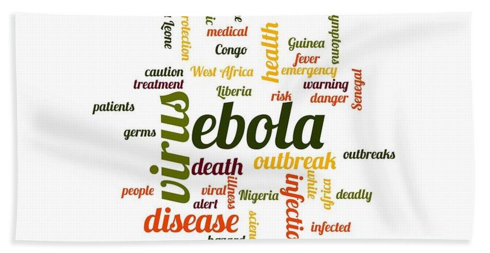 Ebola Beach Towel featuring the digital art Ebola by Henrik Lehnerer
