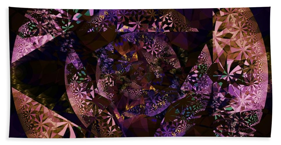 Echoes Through The Night Veil Beach Towel featuring the digital art Echoes Through The Night Veil by Elizabeth McTaggart