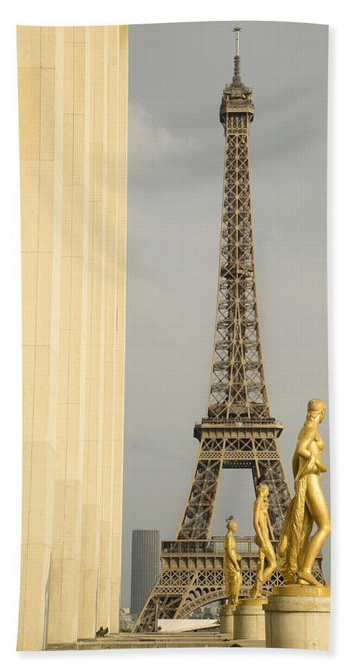 Eiffel Tower Beach Towel featuring the photograph Eiffel Tour Paris by For Ninety One Days