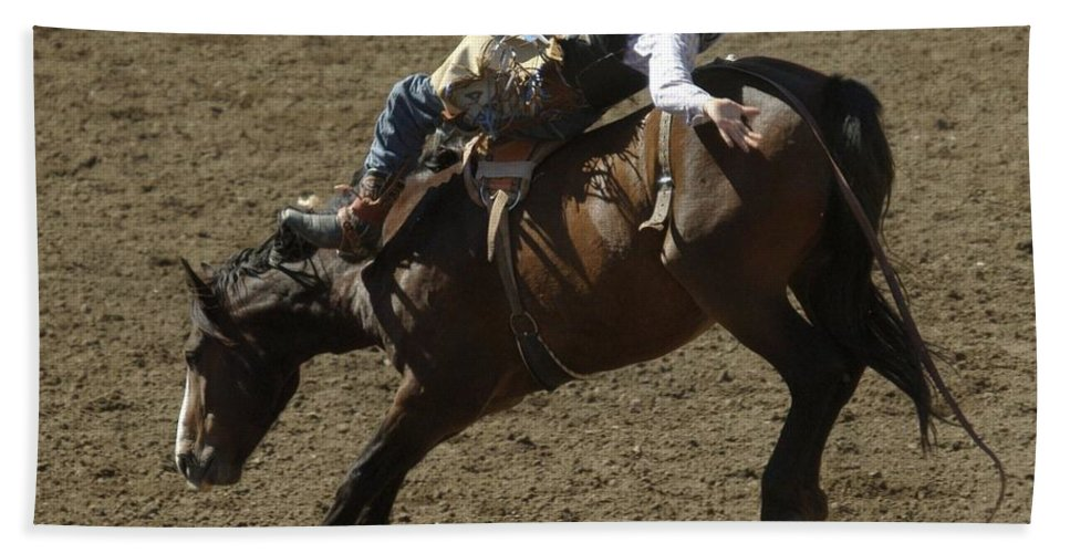 Cowboys Beach Towel featuring the photograph Eight Long Seconds by Jeff Swan