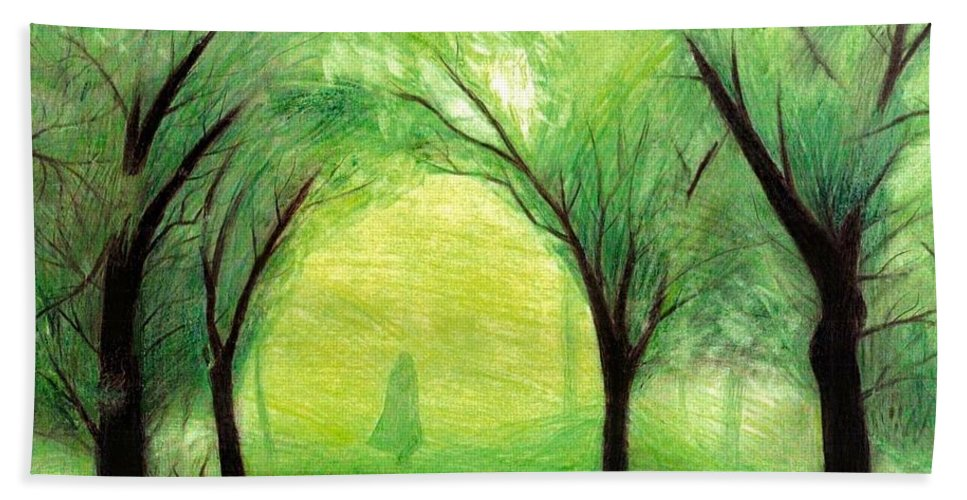 Nature Beach Towel featuring the drawing Eire by Ilias Patrinos