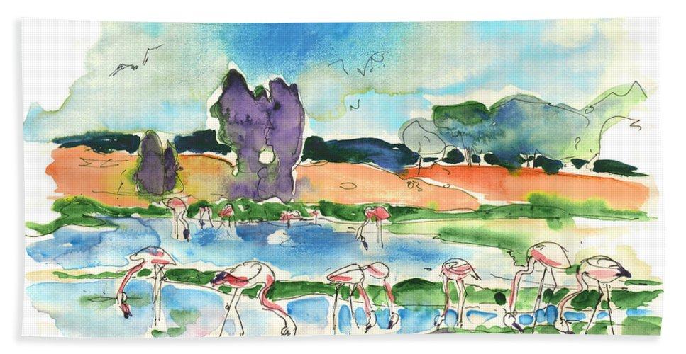 Travel Beach Sheet featuring the painting El Rocio 08 by Miki De Goodaboom