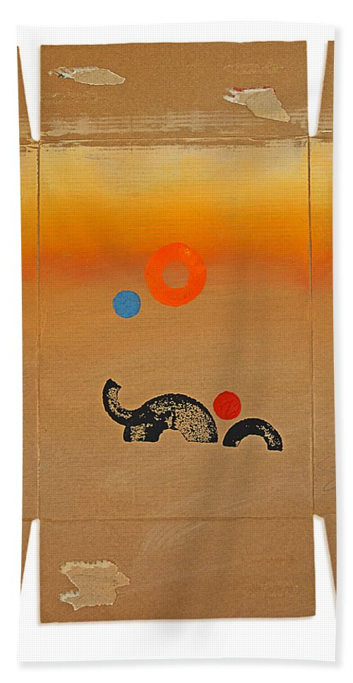 Elephants Beach Towel featuring the digital art Elephant Herd by Charles Stuart