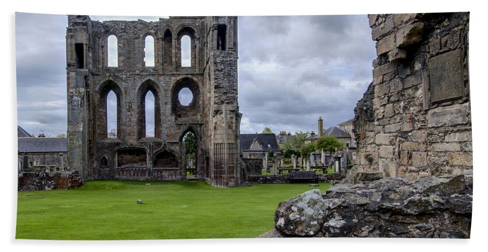 Elgin Beach Towel featuring the photograph Elgin Cathedral Community - 4 by Paul Cannon