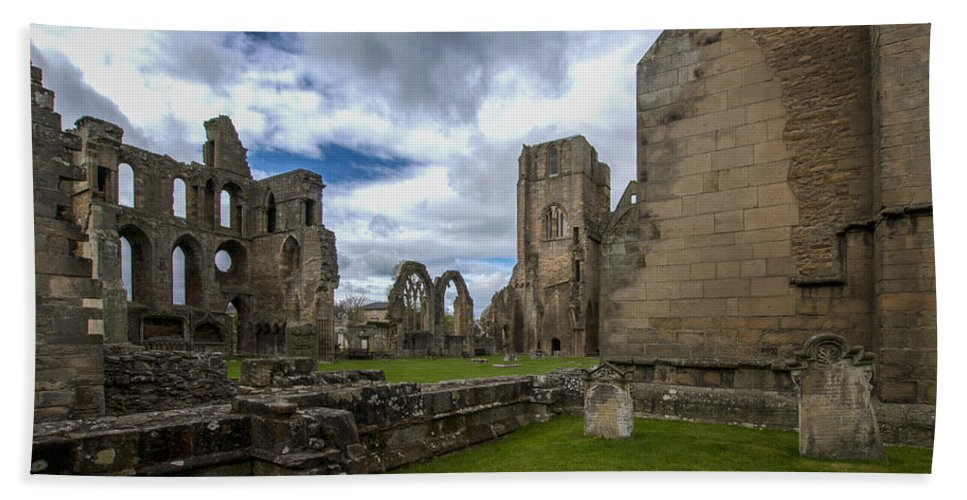 Elgin Beach Towel featuring the photograph Elgin Cathedral Community - 7 by Paul Cannon