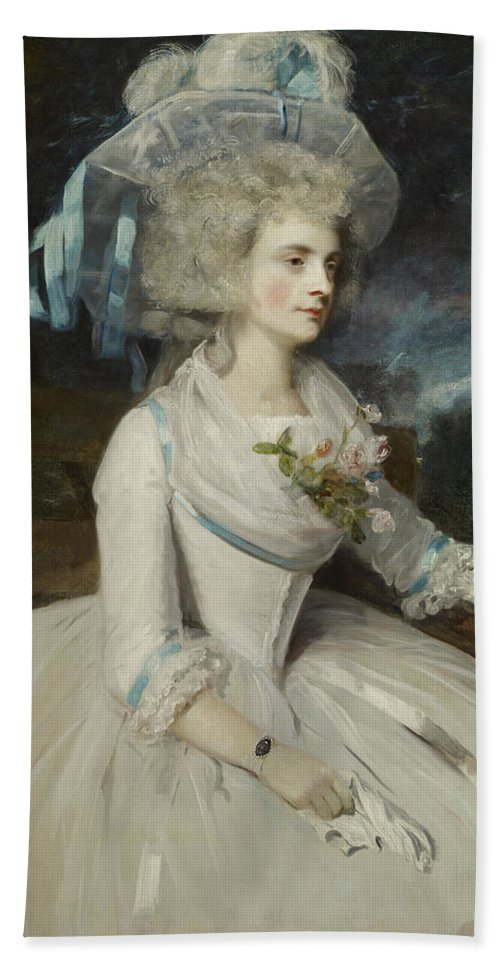 Elizabeth Beach Towel featuring the painting Elizabeth Countess Of Warwick by Mountain Dreams
