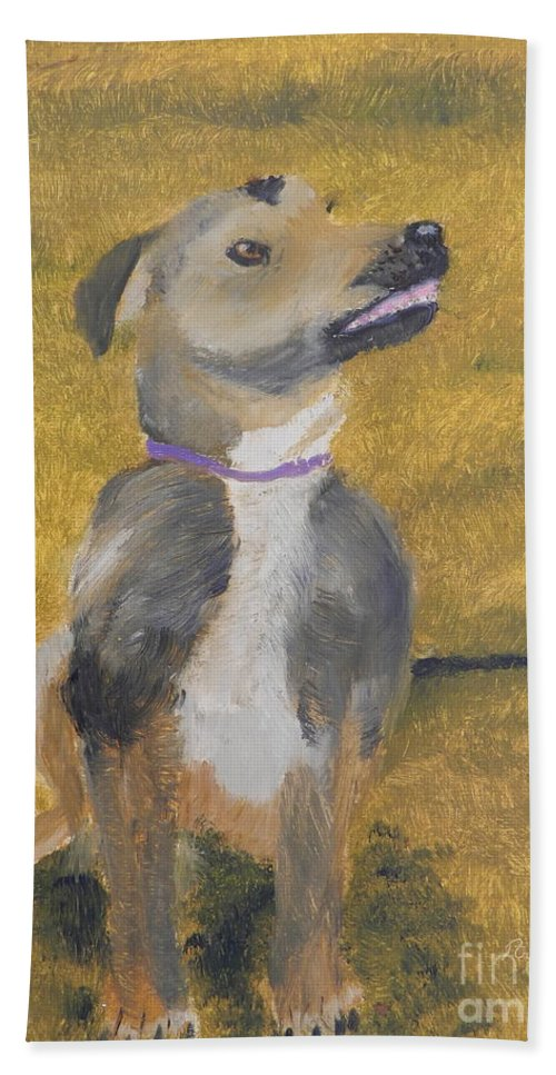 Impressionist Beach Towel featuring the painting Ella by Pamela Meredith