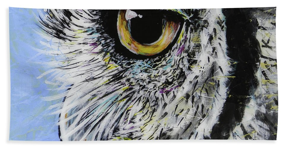 Blue Beach Towel featuring the painting Ellie by Lovejoy Creations