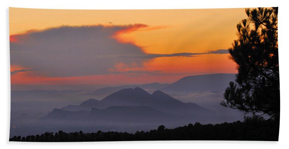 Landscape Beach Towel featuring the photograph Elvira Sierra At Sunset by Guido Montanes Castillo