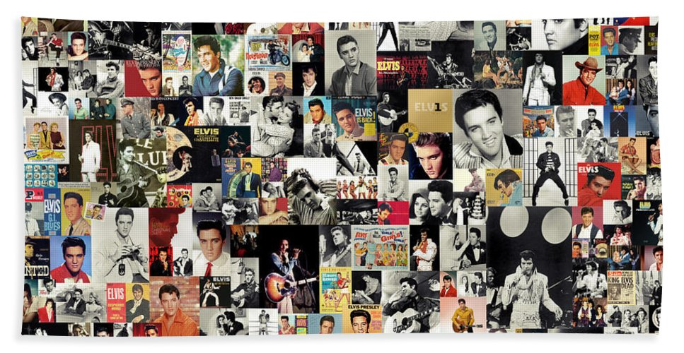 Elvis Presley Beach Towel featuring the digital art Elvis The King by Zapista OU