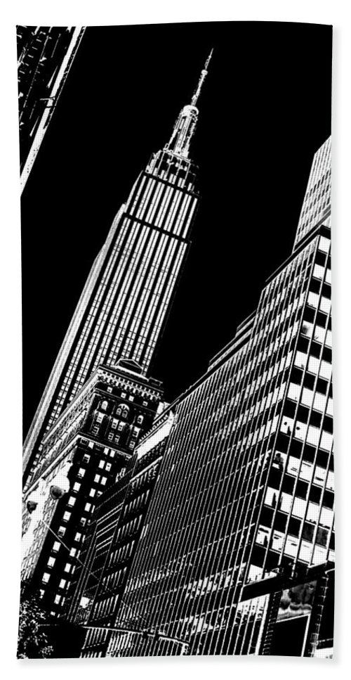 Empire Beach Towel featuring the photograph Empire Perspective by Az Jackson