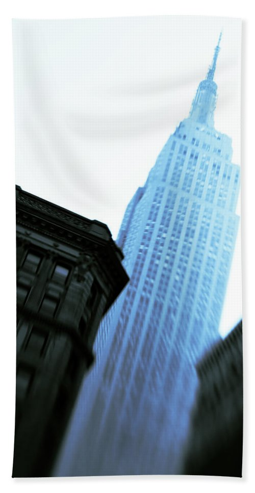 Empire State Building Beach Sheet featuring the photograph Empire State Building by Dave Bowman