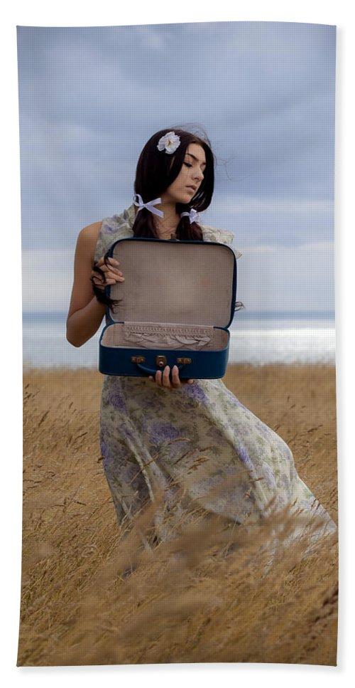 Girl Beach Towel featuring the photograph Empty Suitcase by Joana Kruse