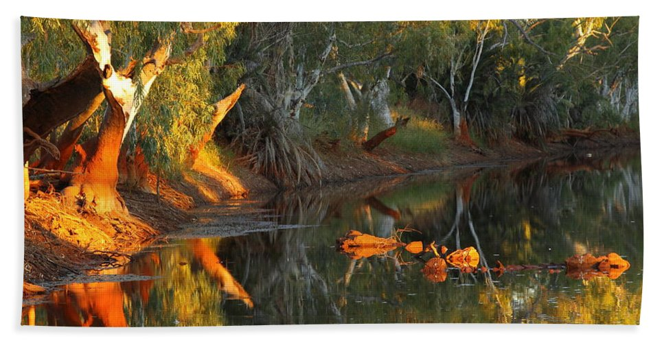 Western Australia Beach Towel featuring the photograph Emu Creek Station 2am-111376 by Andrew McInnes