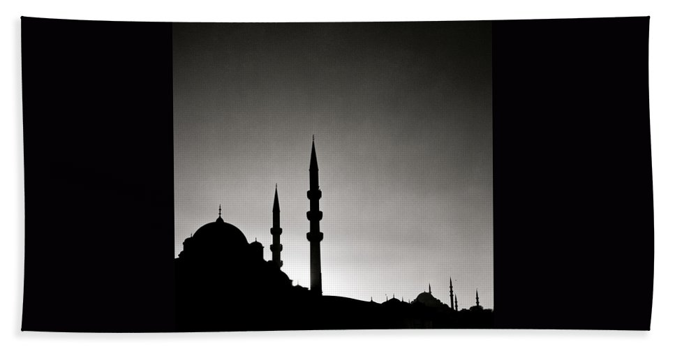 Istanbul Beach Towel featuring the photograph The Enchanting City by Shaun Higson