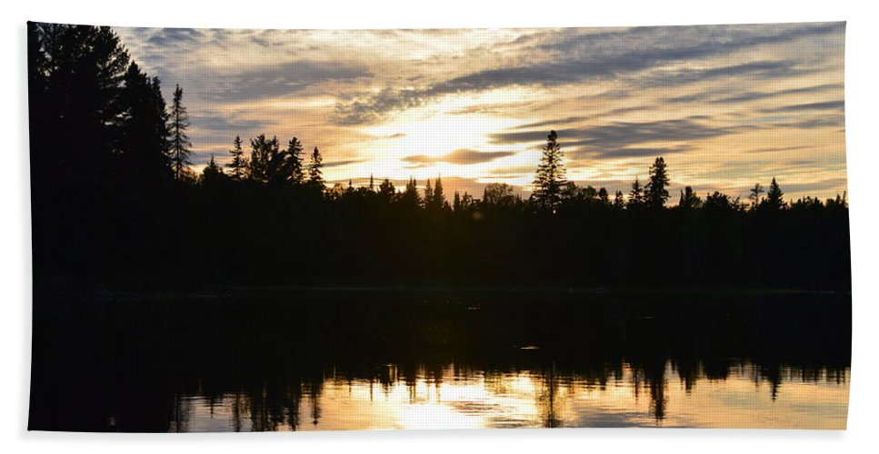 Sunset Beach Towel featuring the photograph End Of Day by Thomas Phillips