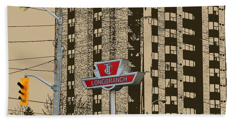 Long Branch Beach Towel featuring the photograph End Of The Line At Long Branch by Nina Silver