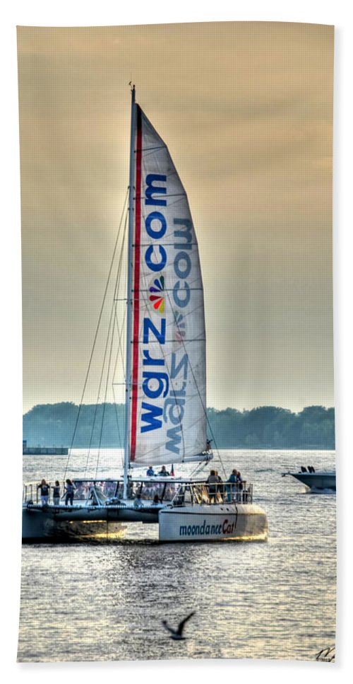 Wgrz Beach Towel featuring the photograph End Of The Tour Back To Shore by Michael Frank Jr