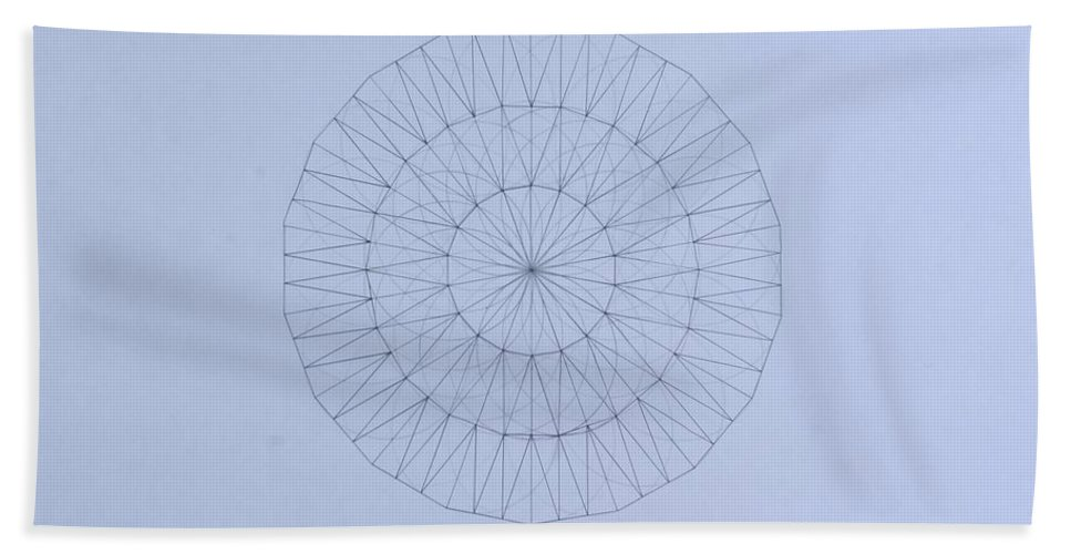 Jason Padgett Beach Towel featuring the drawing Energy Wave 20 Degree Frequency by Jason Padgett