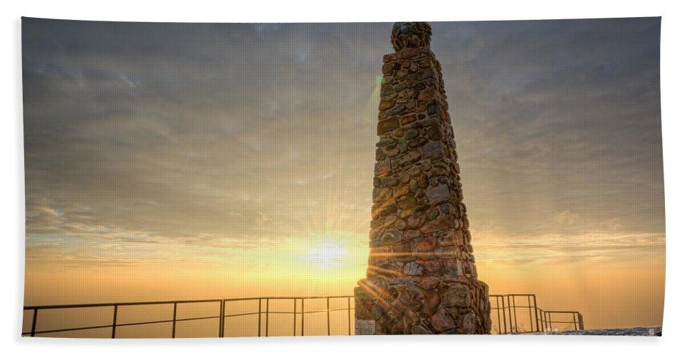 Ensign Peak Beach Towel featuring the photograph Ensign Peak Nature Park Utah by Michael Ver Sprill