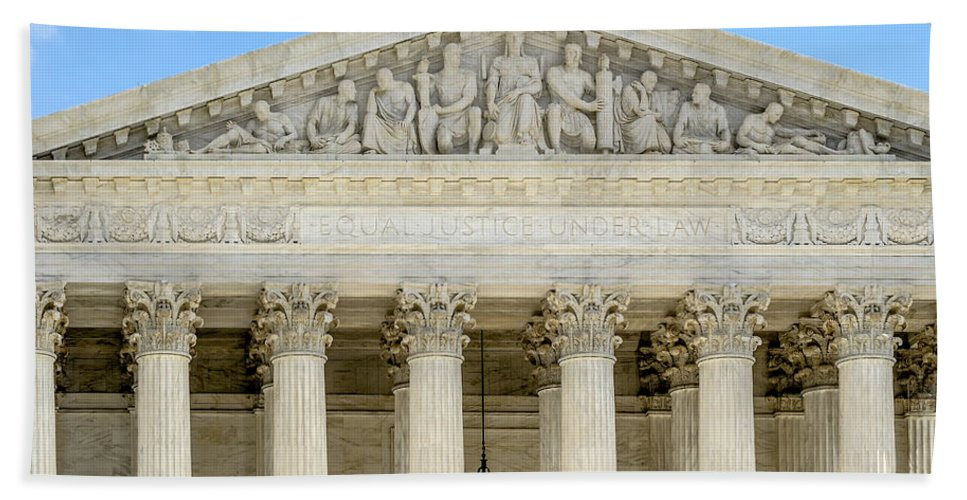 Supreme Court Beach Towel featuring the photograph Equal Justice Under Law II by Susan Candelario