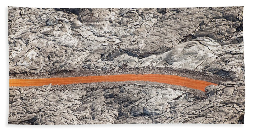 Lava Residue Big Island Hawaii Rock Nature Design Abstract Odd And Ends Beach Towel featuring the photograph Eruption Residue by Bob Phillips