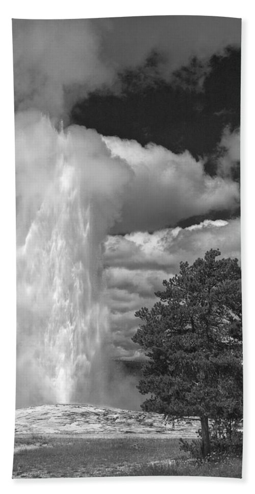 Eruptions By The Clock Beach Towel featuring the photograph Eruptions By The Clock by Wes and Dotty Weber