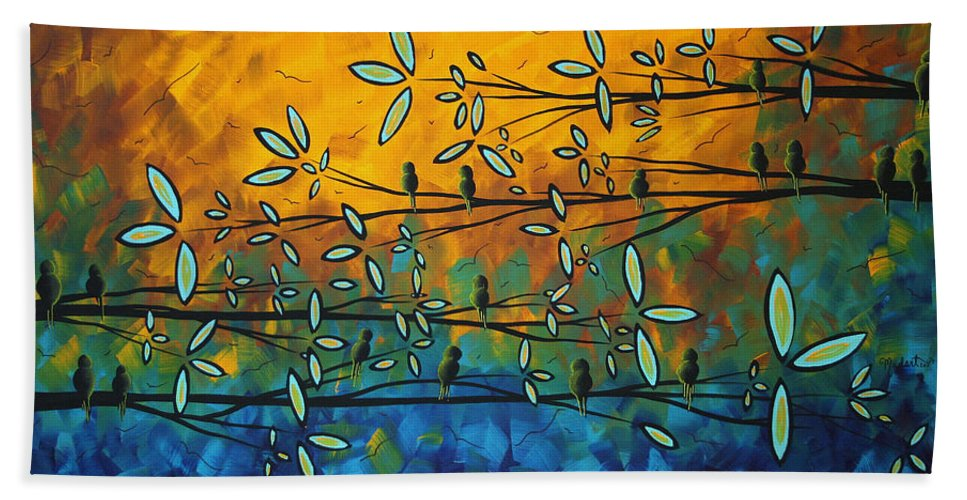 Art Beach Towel featuring the painting Essence Of Life By Madart by Megan Duncanson