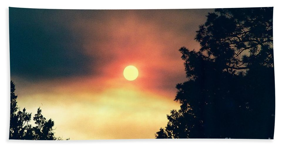 Wildfire Beach Towel featuring the photograph Ethereal Sunset by Kerri Mortenson