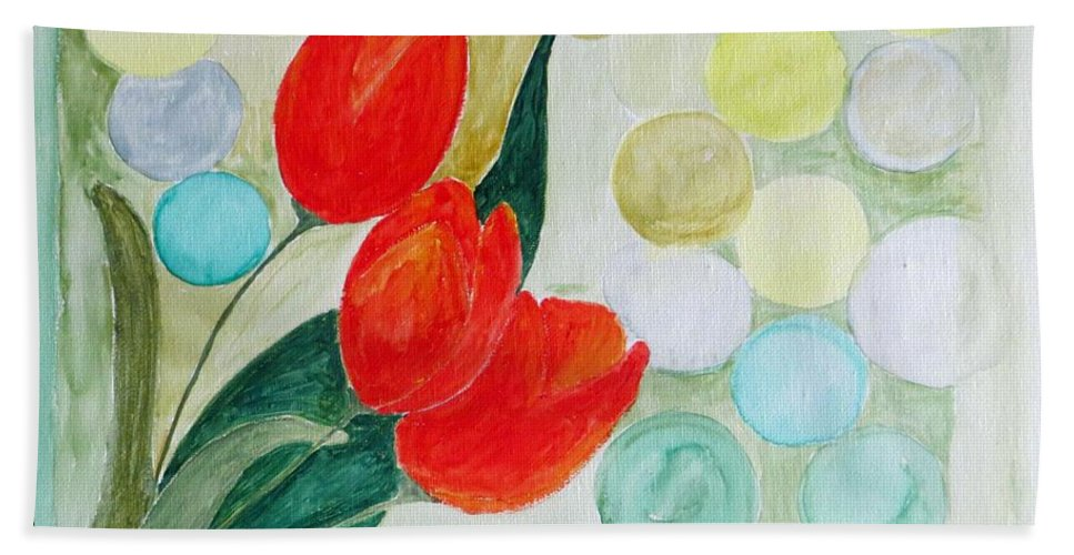 Tulips Beach Towel featuring the painting Europa by Sonali Gangane