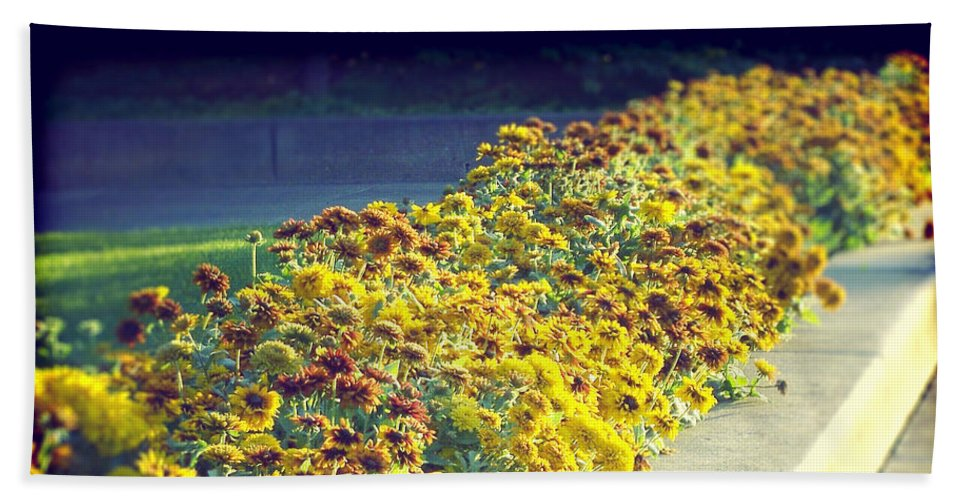 Flowers Beach Towel featuring the digital art Evening Flowers by Phil Perkins