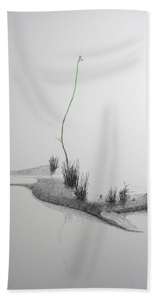 Landscape Beach Towel featuring the painting Evocation by A Robert Malcom