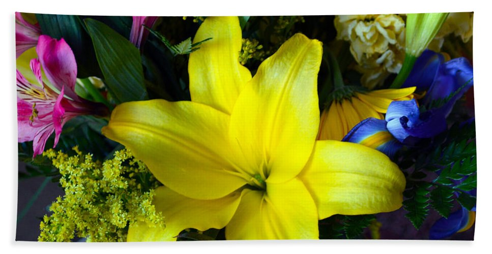 Exotic Beach Towel featuring the photograph Exotic Yellow by Brent Dolliver