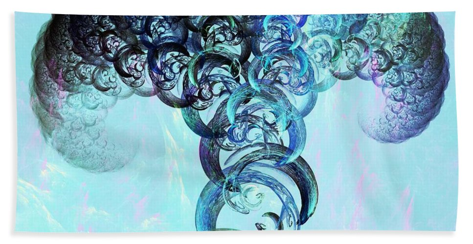 Mushroom Beach Towel featuring the digital art Expanding by Anastasiya Malakhova