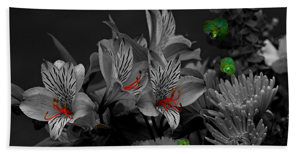 Lily Beach Towel featuring the photograph Eye Candy by Jeanette C Landstrom