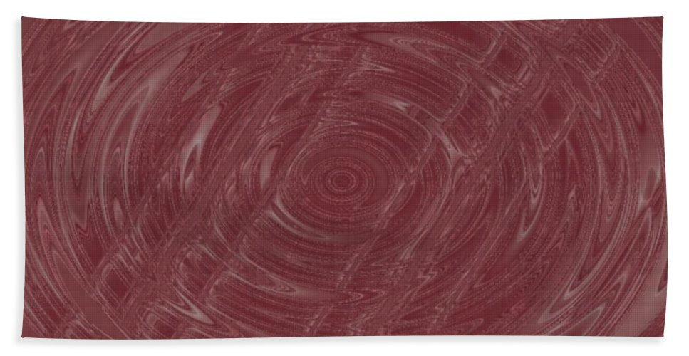 Abstract Beach Towel featuring the digital art Eye In Vortex by Pharris Art