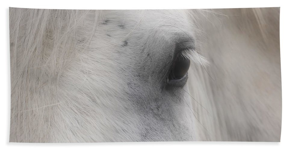 Horse Beach Towel featuring the photograph Eye Of Beauty by Smilin Eyes Treasures