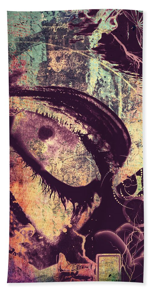 Abstract Art Beach Towel featuring the photograph Eyes Despise by The Artist Project