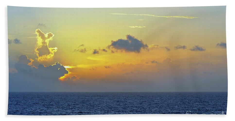 Sunset Beach Towel featuring the photograph Face In The Clouds by Glenn Gordon